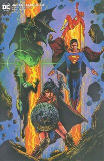 JUSTICE LEAGUE #50 TRAVIS CHAREST VAR ED