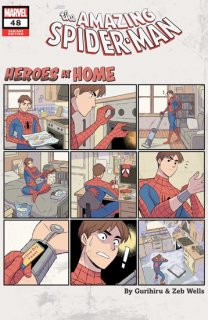 AMAZING SPIDER-MAN #48 GURIHIRU HEROES AT HOME VAR【再入荷】