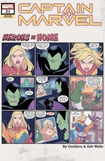 CAPTAIN MARVEL #21 GURIHIRU HEROES AT HOME VAR【再入荷】