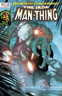 IRON MAN #2 DE IULUS IRON MAN THING HORROR VAR