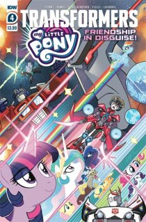 MY LITTLE PONY TRANSFORMERS #4 (OF 4) CVR A FLEECS