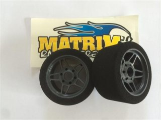 MATRIXタイヤ 1/8用 フロントカーボンホイル 30