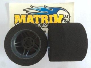 MATRIXタイヤ 1/8用 リヤカーボンホイル 35