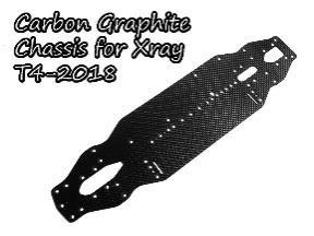 カーボングラファイトシャーシ2.25mm  Xray T4-2018用  TH051-X1825