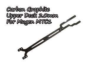 カーボングラファイトアッパーデッキ2.0mm Mugen MTC1用 TH057-MU20