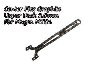 センターフレックスグラファイトアッパーデッキ2.0mm  Mugen MTC1用TH059-MCF20