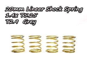 20mmリニアショックスプリング(4本)1.4xT5.25 T2.9グレーTA323-N29