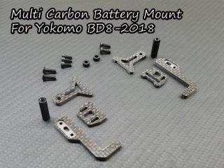 マルチカーボン バッテリーマウント  ヨコモ BD8-2018 TH071-YBM