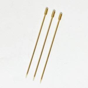 カクテルピン 3本セット ゴールド 円柱型