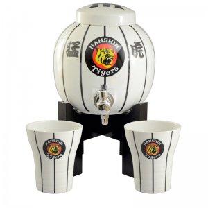 阪神タイガース公認 焼酎サーバー 猛虎 白 焼酎カップ2個セット