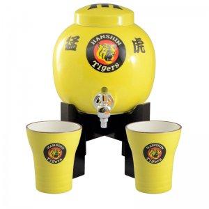 阪神タイガース公認 猛虎 焼酎サーバー 黄 焼酎カップ2個セット