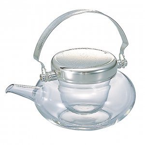 冷酒器ガラス製丸地炉利(ふたつまみナシ)