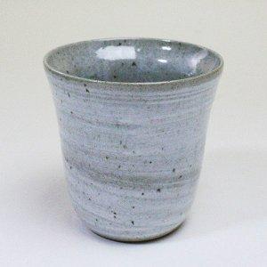 焼酎カップ 陶器 二重構造 粉引 美濃焼 フリーカップ グラス