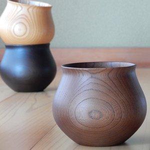 コーヒーカップ 木の器 山中漆器 安清式 ブラウン
