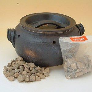 石焼き芋鍋 いも太郎 天然専用石500g付 萬古焼 焼き芋器 壺 つぼ