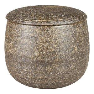 おひつ 電子レンジ対応 1.5合用 陶器 伊賀焼 柿釉 しゃもじ・敷板付