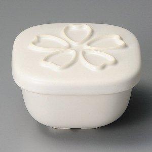 おひつ 電子レンジ対応 1合 陶器 桜白小 セラミック