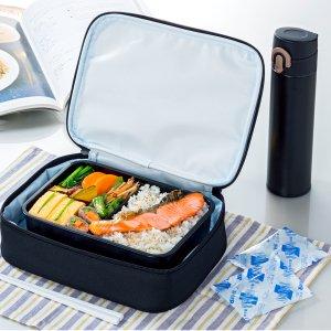 保冷 ランチバッグ お弁当箱用 1段用 ブラック NV-BL1