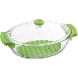 iwaki イワキ 耐熱ガラス製 鍋 グリーン