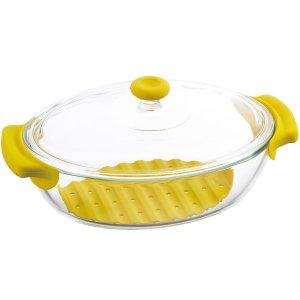 iwaki イワキ 耐熱ガラス製 鍋 イエロー