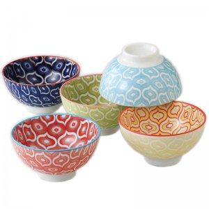 茶碗 ボウル 5個セット 美濃焼 日本の伝統柄 波七宝 日本製