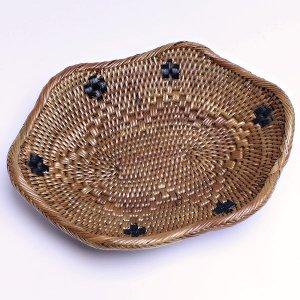 バリ アタ製 波型 ミニ マルチプレート バスケット