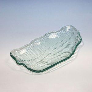 バリガラス製 ガラスプレート バナナリーフ 大