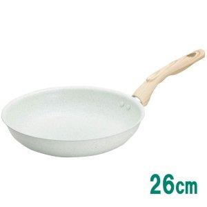 フライパン IH対応 26cm 軽量アルミ製 ヒスイコーティング KuKuNA