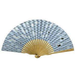 和紙 扇子 70型25間 青海波クジラ 男性用 女性用