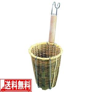 そば うどん揚げ 竹製 ふりざる 柄付 そば打ち 道具