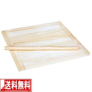 そば うどん 天然木製 のし板 麺棒 脚無 小 そば打ち 道具