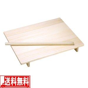 そば うどん 天然木製 のし板 麺棒 脚付 中 そば打ち 道具
