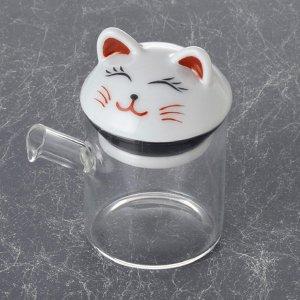 ガラス 波佐見 液だれしない 醤油さし 白猫 小