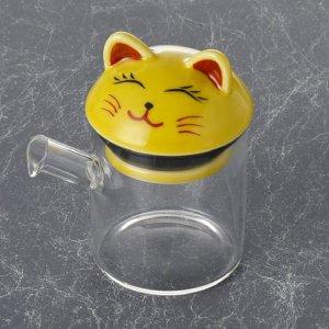 ガラス 波佐見 液だれしない 醤油さし 黄猫 小