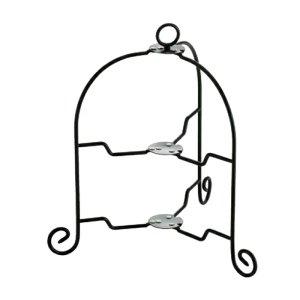折りたたみ式 ケーキスタンド 2段 ブラック