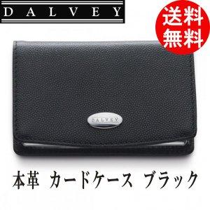 名刺入れ カードケース DALVEY 革製・黒