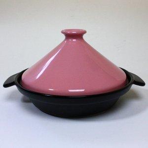 萬古焼 タジン鍋 すのこ付き ピンク