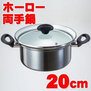 両手鍋 IH対応 ホーロー製 20cm 玉虫色 オニキスシリーズ ON-20R