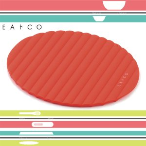 シリコン製 鍋敷き 鍋つかみ マット オレンジ