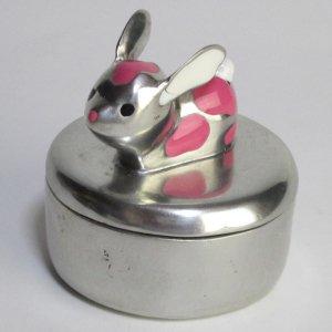 小物入れ ふた付き ウサギ ロイファー Loyfar ピューター製