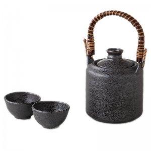 酒器 日本酒 燗冷器 手付 いぶし 陶器製 徳利 3151-54-43
