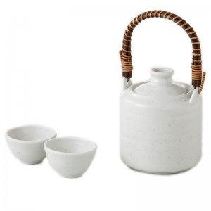 酒器 日本酒 燗冷器 手付 粉引 陶器製 徳利 3151-56-43