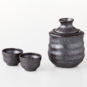 酒器 日本酒 酒燗器セット 小 黒結晶 3151-53-41