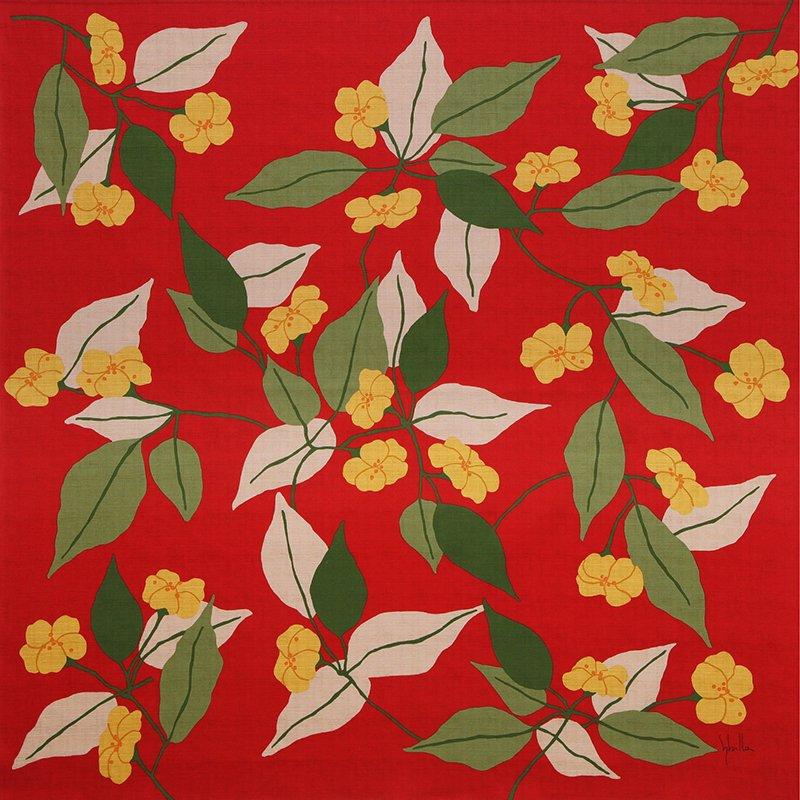 風呂敷 綿二巾 75� シビラ ペンサミエント レッド
