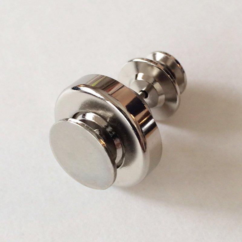 ベース11mm*ニッケル*ブローチとスナップの進化形 どこにでも着脱できる新機能金具『スナップピアス』誕生!