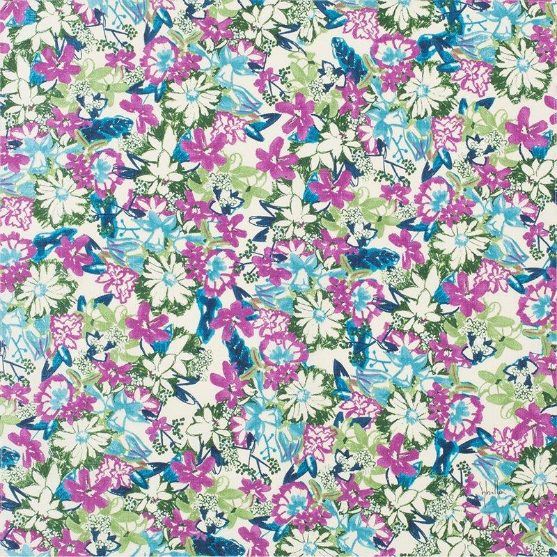 小風呂敷 綿中巾 50� シビラ ヘネロシダ ブルー