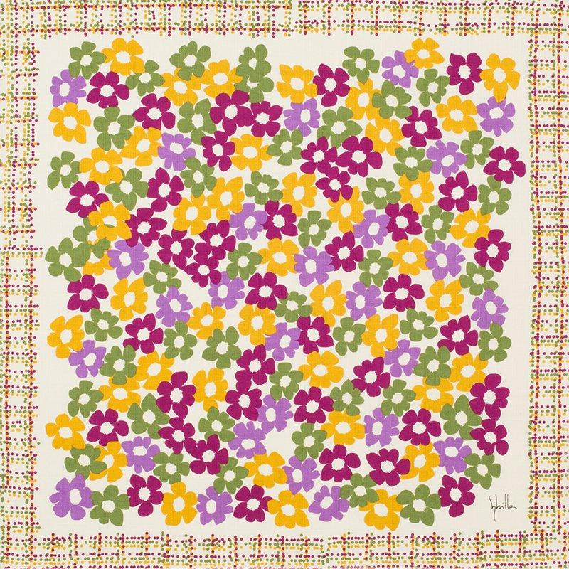 小風呂敷 綿中巾 50� シビラ ベソス&ヴィーダ パープル