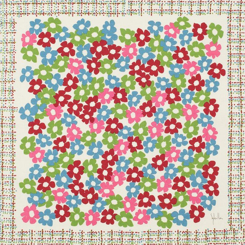 小風呂敷 綿中巾 50� シビラ ベソス&ヴィーダ レッド