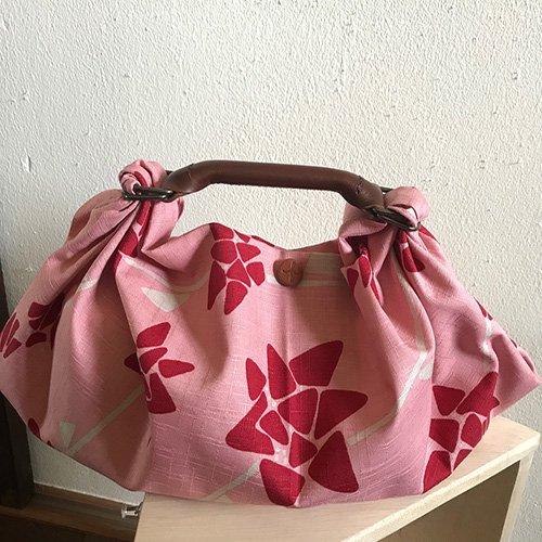 風呂敷バッグ シビラ風呂敷+ふろしきハンドDSS+革ロゴスナップピアス 【メール便可】ラッピング無料‼