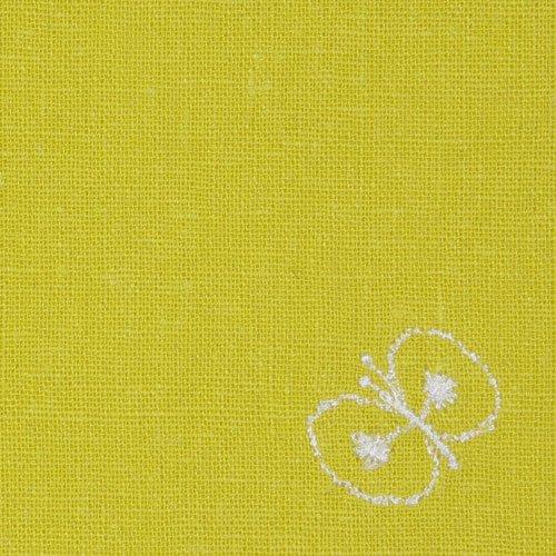 数量限定 50cm ミナペルホネン リネン刺繍【帯付】 choucho イエロー